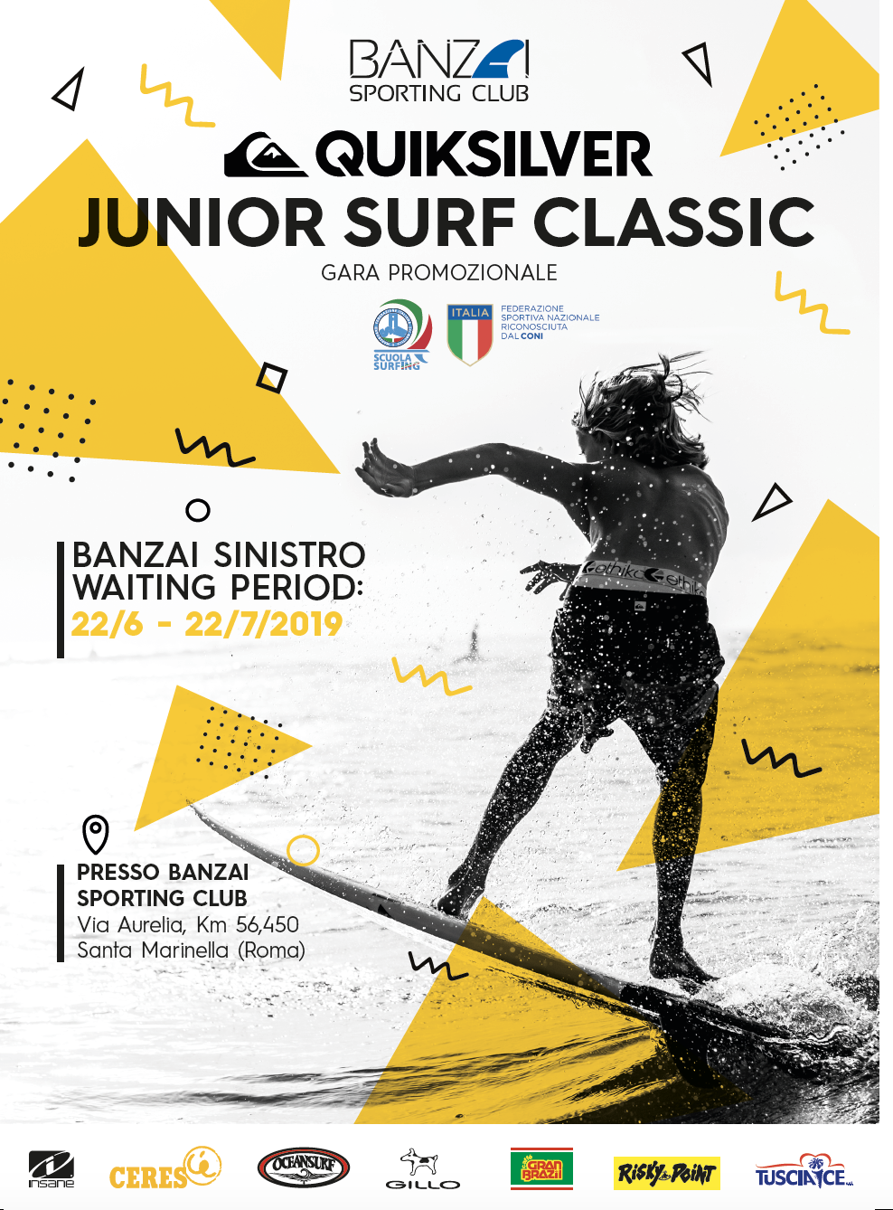 Quicksilver Junior Surf classic banzai 2019